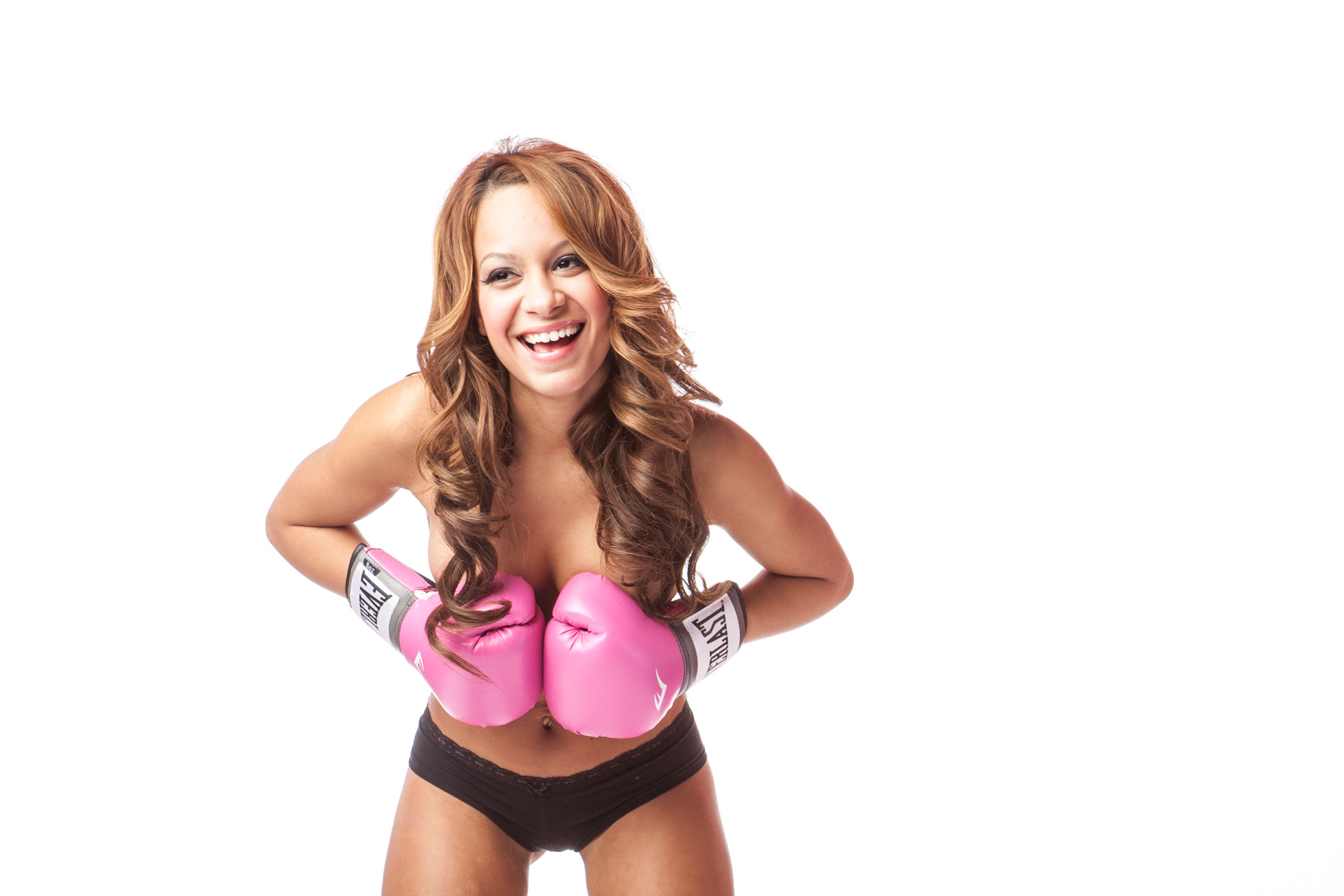 Sexy Laughing Pink Boxing MMA Gloves